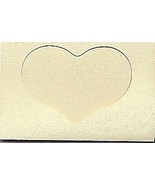 Ivory Heart Large Needlework Cards 5x7 cross stitch - $5.00