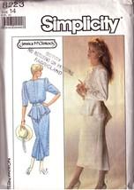 Vintage 1987 SIMPLICITY 8223 JESSICA McCLINTOCH  Misses' Dress - Sz 14 - $12.00