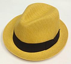 Who Ced Clark Straw Fedora Center Crease Black Band Orange Gray Gold Nat... - $48.00