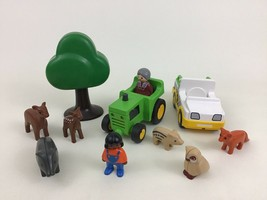 Playmobil 1 2 3 Zoo Tractor Farm Animals 11pc Lot Toddlers Building Toys... - $17.77