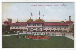 Bathing Pavilion Redondo Beach California 1910c postcard - $5.94