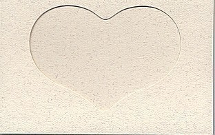 5132 parchment heart opening large needlework card