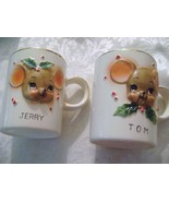 Tom & Jerry Ceramic Christmas Mugs - $16.00