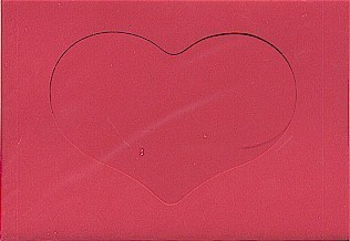 5590 red hear opening large needlework card
