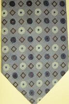 NEW Ermenegildo Zegna Light Blue With Gold Diamonds Tie Made in Italy - $81.99