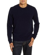 FRAME Cashmere & Wool Sweater Crew Neck Men's Large Navy $395 LMSW0058 - $54.45