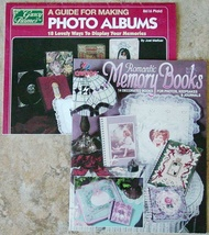 2 Instruction Booklets-32 Ideas for Gift Photo Albums Memory Books Journals - $14.99