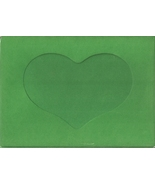 Green Heart Large Needlework Cards 5x7 cross stitch - $5.00