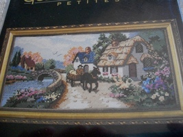 Village Serene Cross Stitch Kit: Comes with Fabric, Floss, Needle & Dire... - $28.00