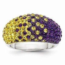 STERLING SILVER RING - SWAROVSKI CRYSTAL LSU PU... - $122.63