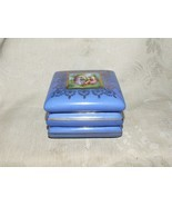 1918 Victoria Czechoslovakia Powder Blue Trinket Box Angelica Kauffman T... - £62.37 GBP