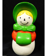 VTG CAROLER GIRL SALT OR  PEPPER SHAKER - $13.86