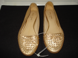Kate Spade New York Gold Leather Driving Shoes Moccasins Size 8 Medium  - $35.00
