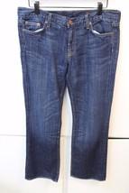 W13159 Womens J. CREW Dark Wash Hipslung Cotton BOOT CUT JEANS 31S Short - $38.60