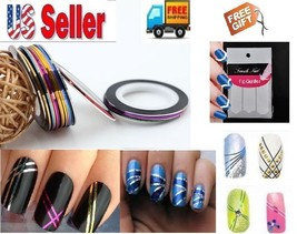 NEW Hot Colors Nail Art Rolls Striping Tape Line Tips DIY DecorationSticker+Gift - $3.97