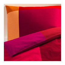 Ikea BRUNKRISSLA 2 King Pillow Shams Red Orang... - $26.97
