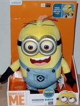 Despicable Me Plush Minion Dave Talks Lights Up Pop Out Eyes 15 Sayings NEW - $34.99