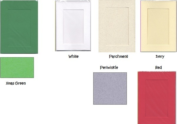 White Rectangular Small Needlework Cards 3.5x5.5 cross stitch
