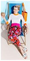 New $258 KATE SPADE hutton tropical-print lounge pants 4 - $59.39