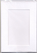 White Rectangular Small Needlework Cards 3.5x5.5 cross stitch - $5.00