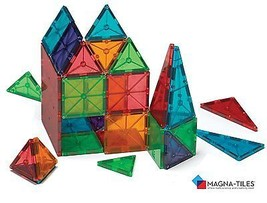 Magna-Tiles Clear Colors 100 Piece Set Building Toys Kids Children Learn... - $159.00