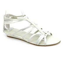 Nine West Makaia Womens White Open Toe Gladiator Sandals Shoes 5.5 M - $65.99