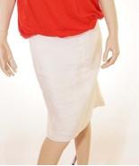 Lauren Ralph Lauren Womens Beige Ivory Linen Lined Ruffle Back A-Line Sk... - $39.99