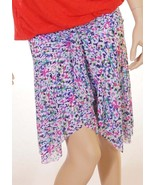 Profile by Gottex E253-3068 Womens Plum Floral Stretch Above Knee Tiered... - $29.59