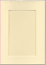Ivory Rectangular Small Needlework Cards 3.5x5.5 cross stitch - $5.00