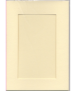 Ivory Rectangular Small Needlework Cards 3.5x5.5 cross stitch - $5.00