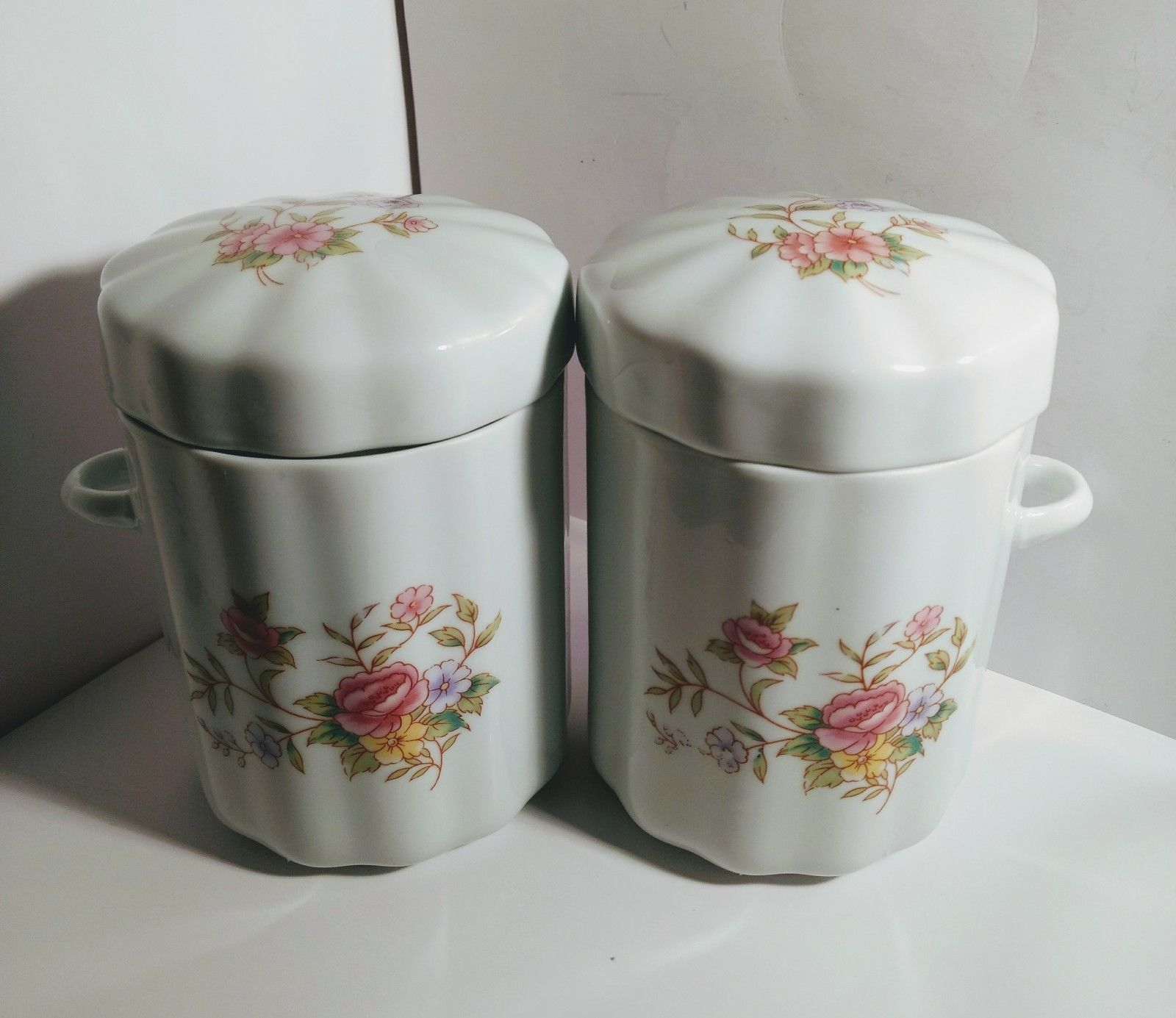 Set Of 2 Porcelain Canisters Lid Ftda 1988 And 50 Similar Items
