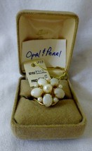 Burt Cassell Genuine Opals and Pearl 12K Gold-Filled Ladies Ring  size 8 - $45.00