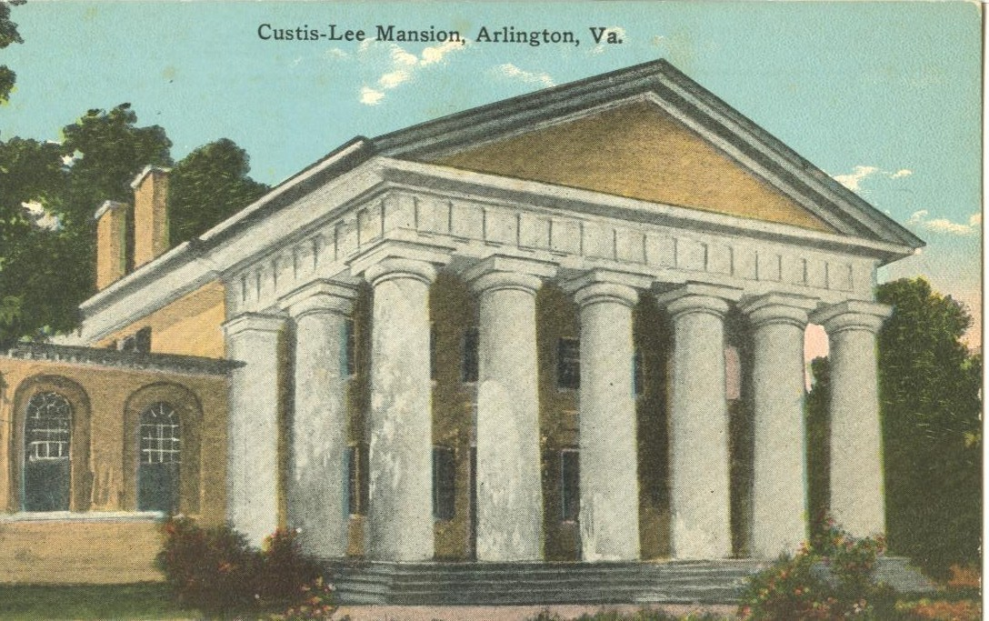The Custis-Lee Mansion, at Arlington, VA, early 1900s unused Postcard