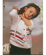 Knitting pattern for childs Nautical style cardigan - $2.50