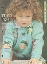 Knitting pattern for tots jumper with embroidered fruit. Sizes 56cm - 66... - $2.50