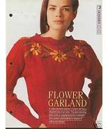Knitting pattern for ladies cable panel sweater with stand up collar & e... - $2.00