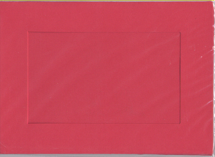 Red Rectangular Small Needlework Cards 3.5x5.5 cross stitch