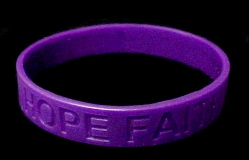 Domestic Violence Lot of 12 Purple Awareness Bracelets Silicone Wristbands New