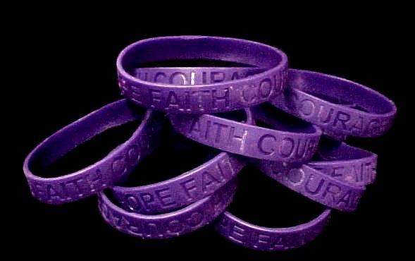 Epilepsy Purple Awareness Bracelets Lot 12 Pieces Causes Silicone Wristbands New