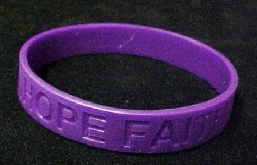 Huntington's Disease Lot of 12 Purple Awareness Bracelets Silicone Wristband New