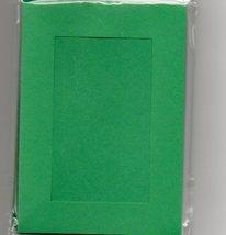 Christmas Green Rectangular Small Needlework Cards 3.5x5.5 cross stitch - $5.00