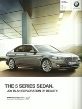 2011 BMW 5-SERIES Sedan sales brochure catalog US 11 528i 535i 550i xDrive - $8.00