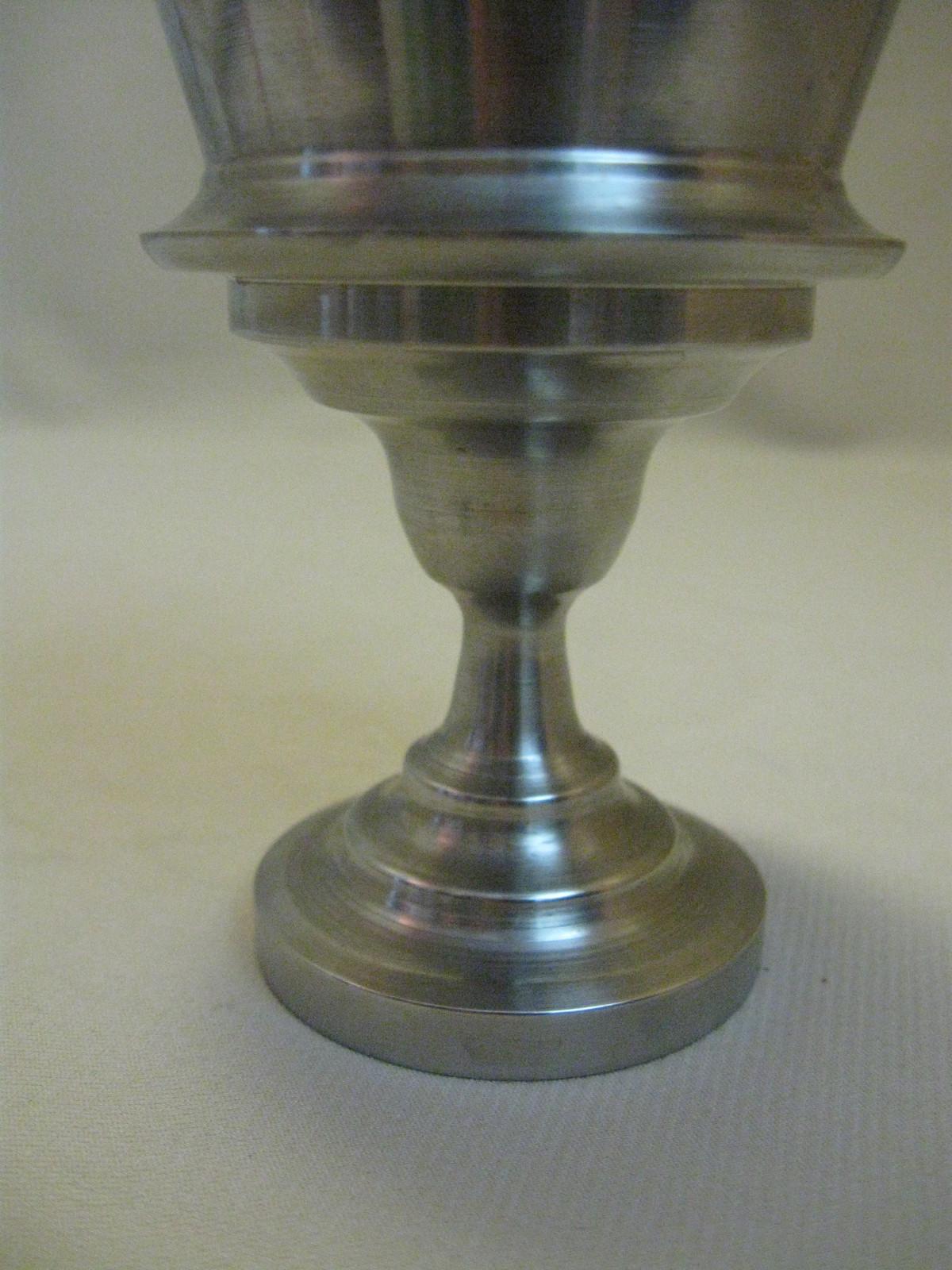 Pedestal Candle Holders : Pedestal candle holder candy dish silver plate tone