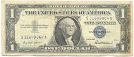 U.S 1957 ONE DOLLAR  SILVER CERTIFICATE 9864 - $6.93
