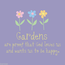 Garden T-shirt S M L Xl Xxl Nwt Gardens Are Proof That God Loves Us Gildan - $20.20