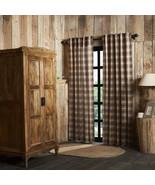 Dawson Star Scalloped Panel Window Set 84x40 curtains Cotton Lining rust... - $64.95