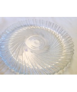 Glass 10' Serving Plate Swirl Design Clear  Perfect Condition - $1.99