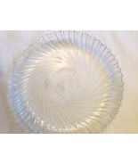 "7 1/4"" Clear Swirl Glass Salad/Dessert Plate - $9.99"