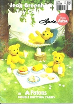 Knitted Toy Collection, Patons Knitting Leaflet, Jean Greenhowe, Teddy B... - $7.95