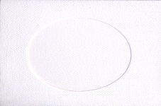 White Oval Small Needlework Cards 3.5x5.5 cross stitch
